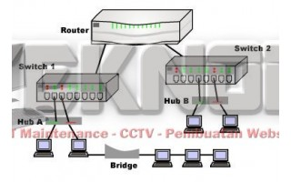 Perbedaan Hub, Switch, Bridge, Repeater, dan Router