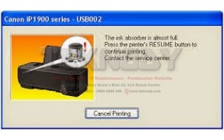 Mengatasi Printer Canon IP2770 Ink Absorber Is Almost Full