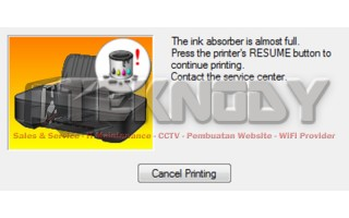 Error P07 dan E08 Printer Canon MG2170, MG2270, dan MG5270