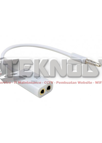 Jack 3.5mm Male To Dual Female 3.5mm Headphone Microphone Audio Splitter