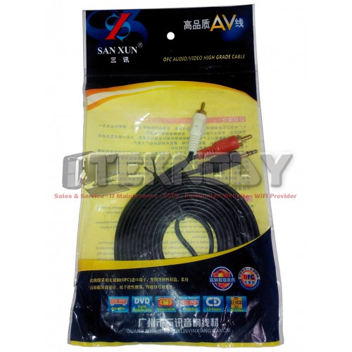Kabel Audio 2 RCA - 3.5mm - 3m