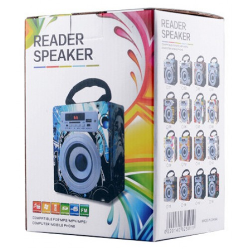 Kayu Fm Radio USB Sd Card Reader Speaker